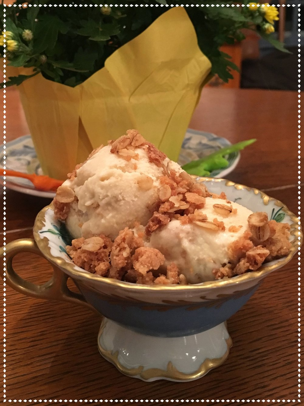 gluten-free apple crisp ice cream