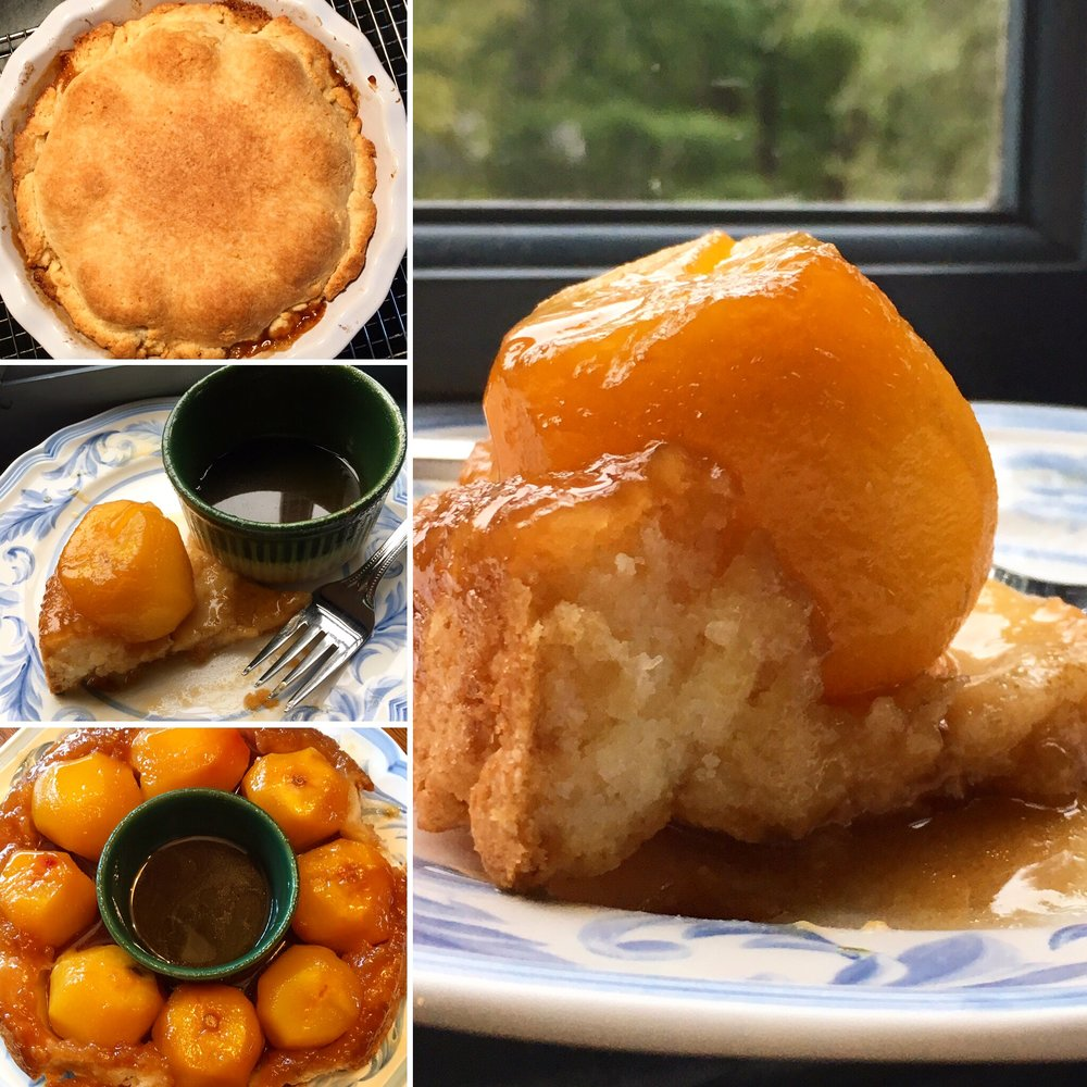 gluten-free peach puzzle pie