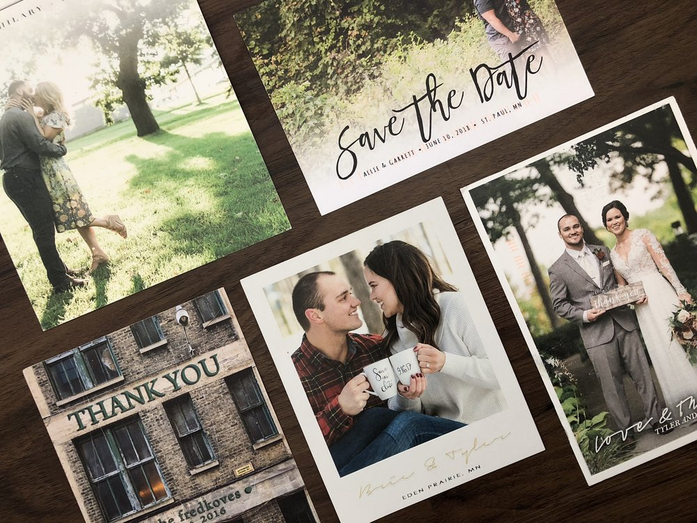 unique Cards - options for unique and one of a kind save the dates, invitations, holiday cards and thank you's