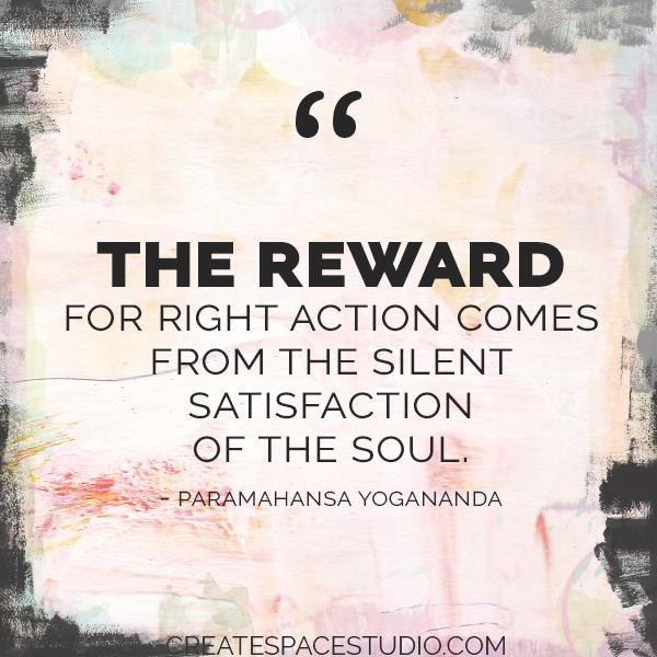 A reward worth more than money. createspacestudio.com
