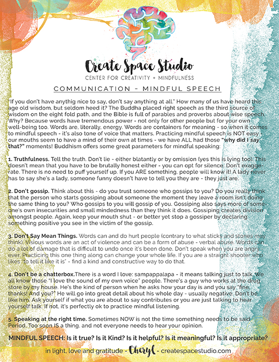 mindful communication - speech - free mindfulness downloads createspacestudio.com