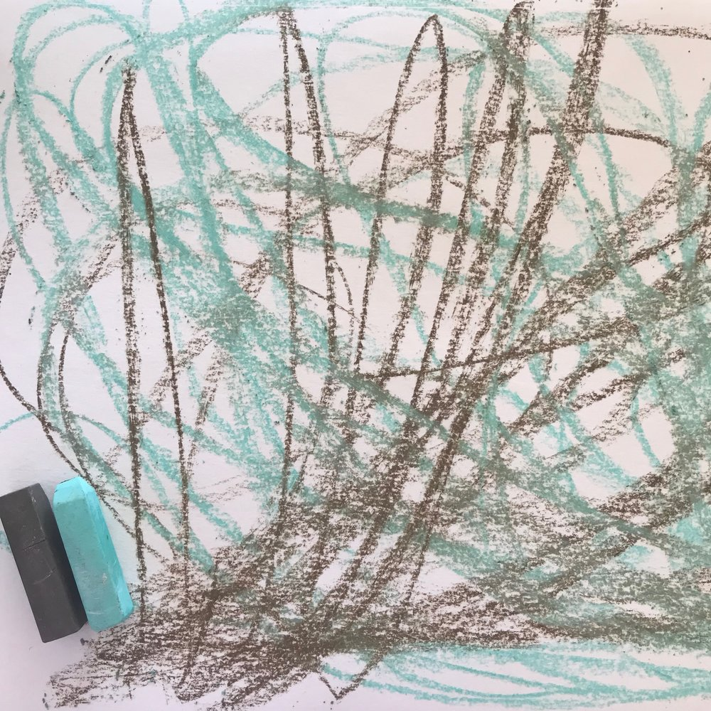 drawing a breath - create space studio art for mindfulness.