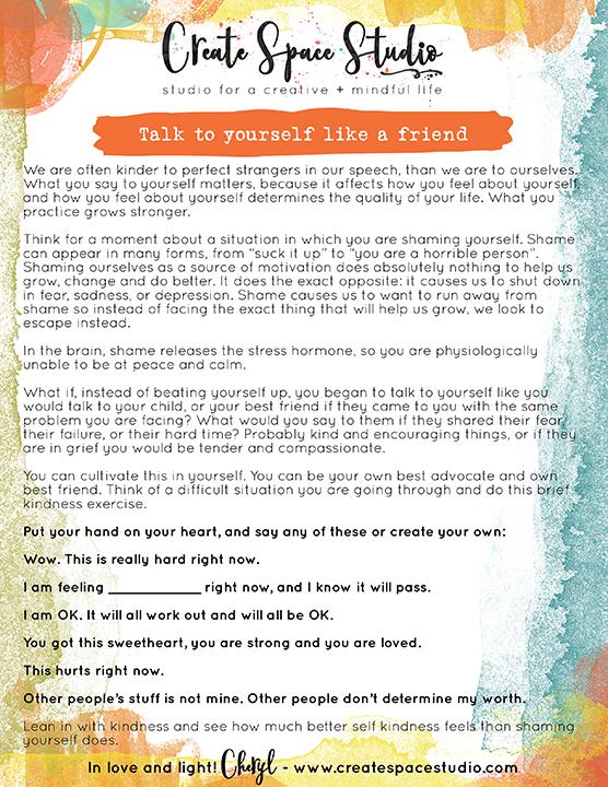 talk to yourself like a friend - createspacecstudio.com