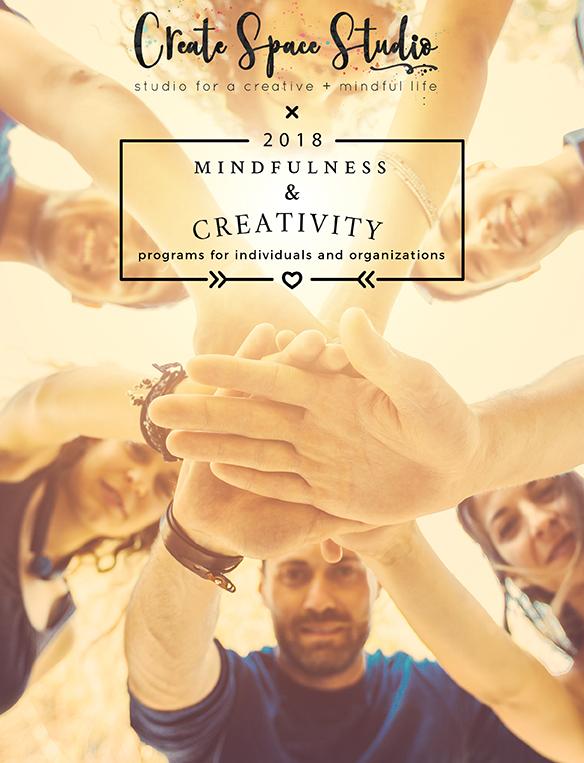 Mindfulness and creativity sessions with Cheryl Sosnowski createspacestudio.com
