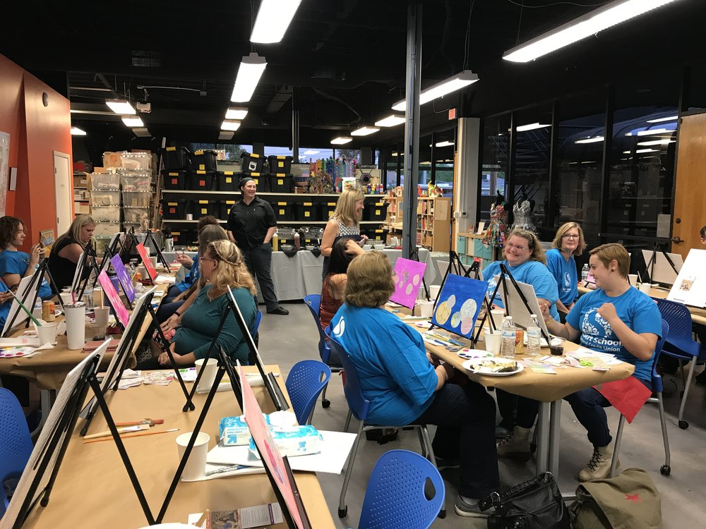 Desert School Paint Party with Create Space Studio at Free Arts Studio.