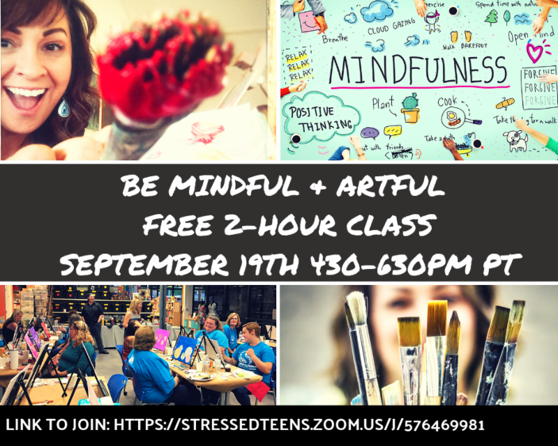 Free Orientation - Be Artful + Mindful class