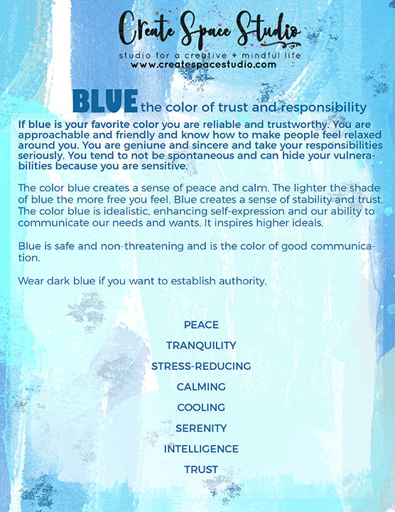 Blue Meditation - a  blue painting meditation to relax into serenity from createspacestudio.com