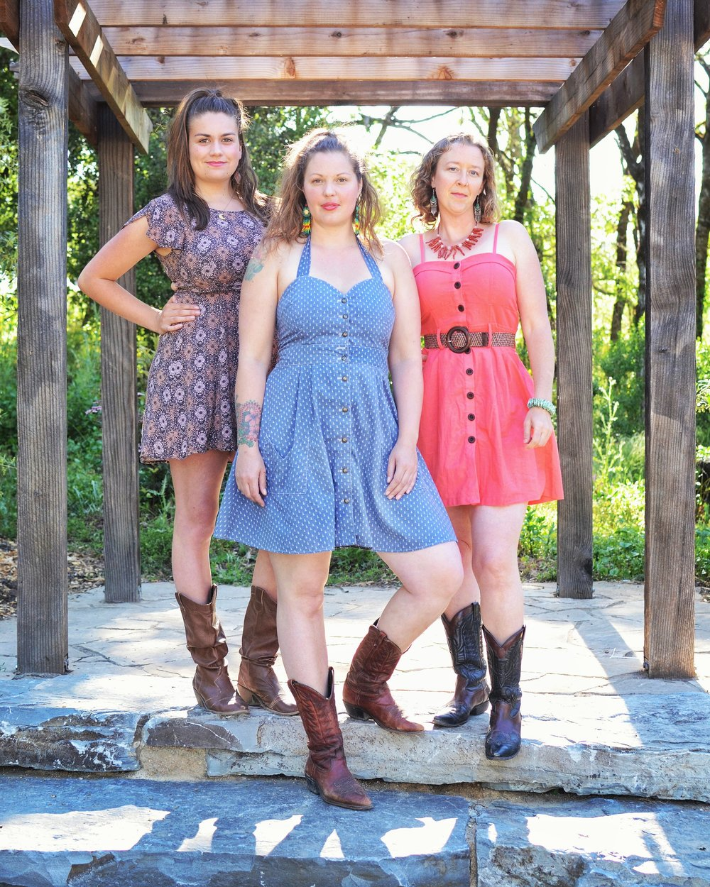 Our Story - With organic harmonies that enchant and uplift the spirit, The Real Sarahs share their special gift of vocal synergy. This trio of women, who are all named Sarah, enjoy the magic that is created by voices in harmony, acoustic instruments, and the energetic connection between artists and audience. Embracing many genres of music, you are likely to hear threads of folk, jazz, blues, and country running through their songs. Singing from the stories of their own life journeys and experiences, their original music is honest, evocative and heartfelt.Introduced by a mutual friend in 2010, Sarah 'Songbird' Larkin and Sarah Ryan have been nearly inseparable, musically, since. As founding members of Motherland Family Band in 2011, these ladies began to sculpt their original songs into tightly woven harmonic collaborations. Larkin and Ryan struck out on their own as a duo in 2012 and The Real Sarahs was born. They recorded their first EP CD together in 2013, demonstrating each in their capacity to lead and support and embody beauty through song. Their second album, Afternoon with the Dirty Birds, was released in May of 2017 and represents the body of work they developed together, with the support of full instrumentation. This work showcases their songs with a big, 'full band' sound and allows the pieces to reach a sonic potential unachievable as a duo.As neighbors in a tight knit musical community, it was inevitable that Sarah Rose would find her way to The Real Sarahs. 'Rosie' was an accomplished local performer who had admired the work of the duo. Her first solo EP, Lay My Burden Down' was released in 2016. Her strengths as a singer/songwriter, harmony singer and cellist made her a natural fit. The ladies jumped into re-arranging their repertoire for three parts and started performing together in October 2016. Sarah Rose's lovely cello playing is featured on Afternoon with the Dirty Birds.With gratitude for the gift of music given them, The Real Sarahs offer back their gifts with open hearts and truth of purpose. These women seek to inspire, uplift and entertain their audiences with songs that speak to the heart of the human experience. With warmth and humor The Real Sarahs offer their REAL selves to the world as the women of song that they were born to be. Currently residing in Mendocino County California, The Real Sarahs enjoy performing in their local area and throughout the Northwest. They aim to do more regional and national touring in time.