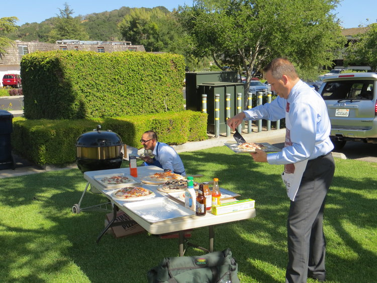 While Enjoying Another Beautiful Day Outside On Our Deck In The Santa Ynez Valley Partners Served Refreshments And Homemade Pizzas Prepared By Partner