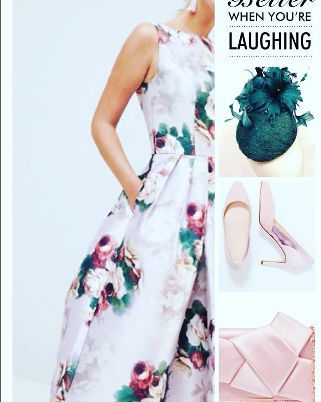 Cheltenham Gold Cup dress up goals! Still in love with floral designs @chichiclothing shoes are #mintandberry @zalando & clutch @ted_baker #fefee knot bow from @officialbrownthomas & #headpiece is #handmade @sineadharringtondesigns  #cheltenhamfestival #goldcup #racinghats #racingstyle #wearingirish #clutchbags  #shoes #stilettos #dress #fashiongoals #ontrend #fashion #fashionblogger