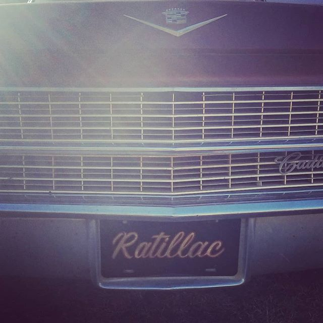 "Putting miles on the #Ratillac today. 1963 Deville Park Avenue with a 390 Cadillac motor, a 700R4 trans, disk brakes, on 17"" steelies!  #1963cadillac #ratrod #cadillacparkavenue #shuglife"