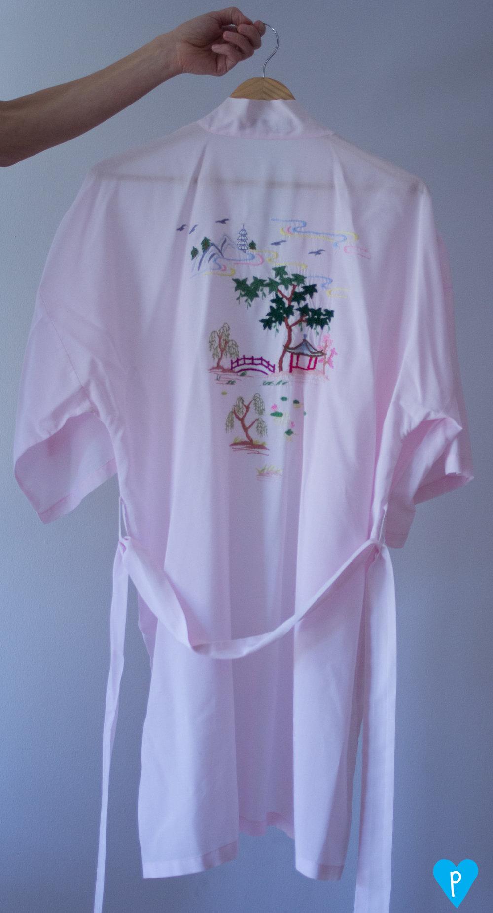 A cotton robe option