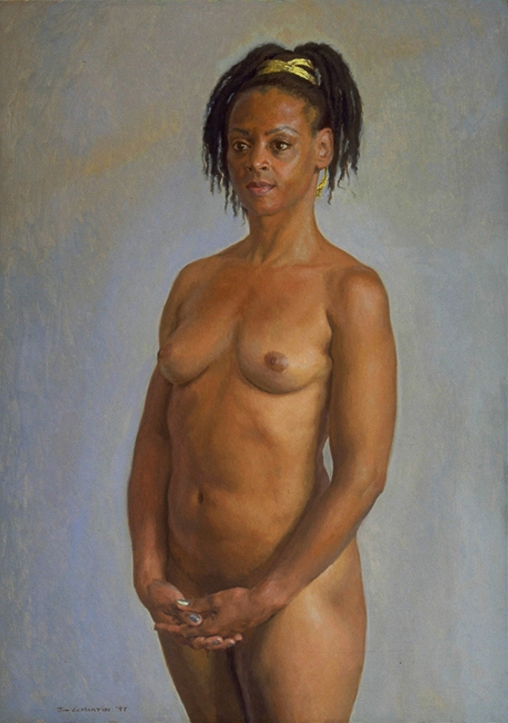 "Sheryl  1998 Oil on Canvas 28""x20"""