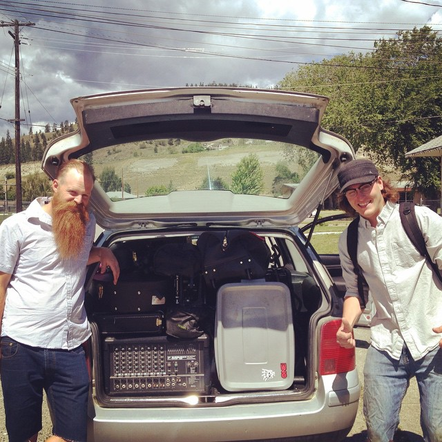 All packed up and ready to hit to the road! Can't wait to see all our family and friends at @firehallbrewery in Oliver BC #tigermoon #theduoisnowatrio @tigermoonmusic