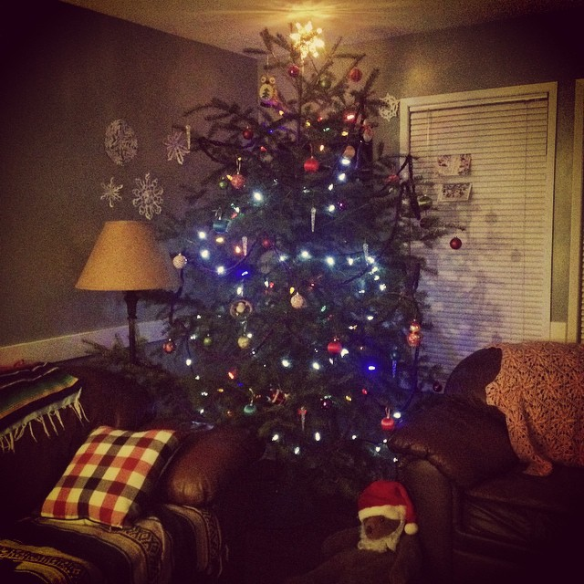 The tree is finally up. Happy Holidays! #tigermoon #highhouse