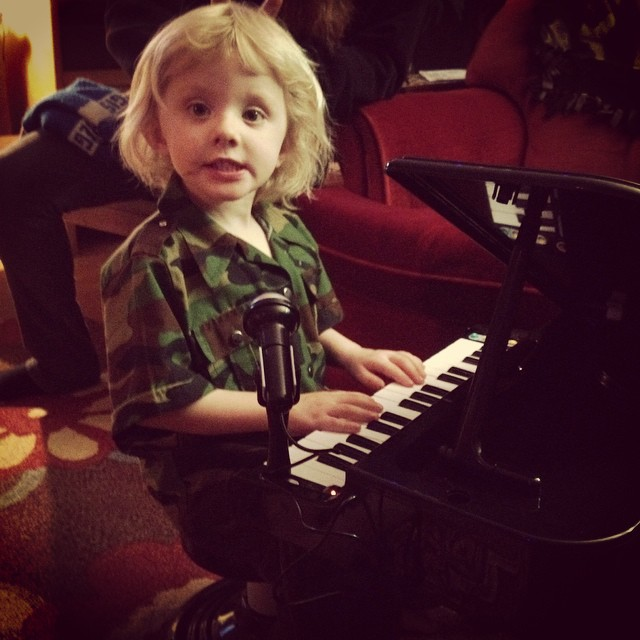 Happy Birthday Sawyer! Another musician in the family.