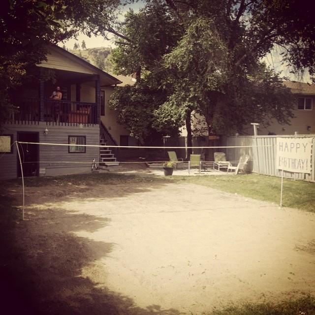 It's a great day for a badminton battle! #happybirthdaydantait #backyardbadminton