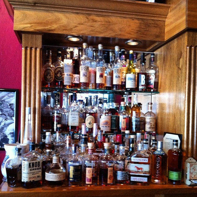 "Hahaha… @beyondpark ""I need a list of all of the whiskeys, please."" @cwfreake Where are you!? #tigermoon #crepeplace #santacruz"