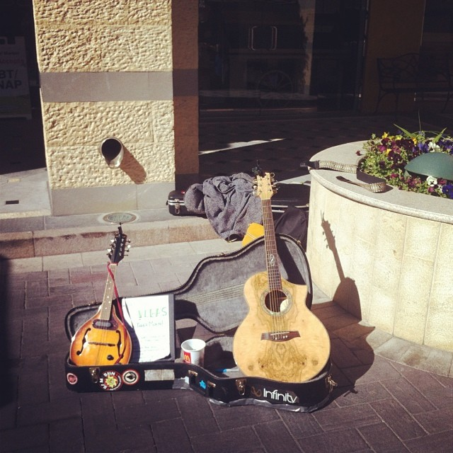 One of our busking spots in #Vegas at #Fresh52 Farmers Market this weekend. We're off to Sunny Palm Springs today!