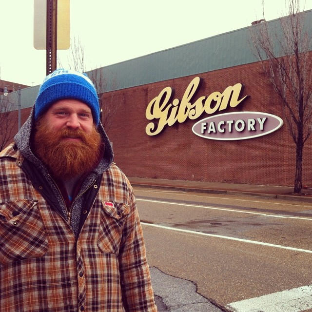 The #Gibson Guitar Factory in #Memphis #TN. Where dreams are made. I wanna work here, and live with all of the guitars. #latergram (at Gibson Factory)