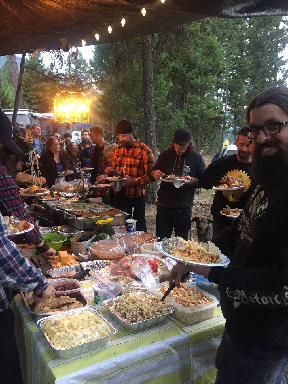 The beautiful spread at the Second Annual Amp & Camp