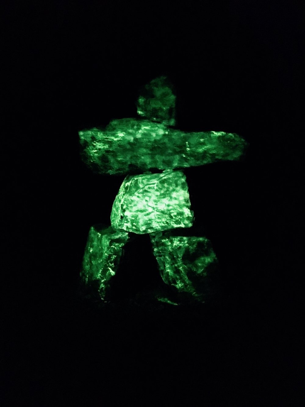 Watch for a Glowing Inukshuk!