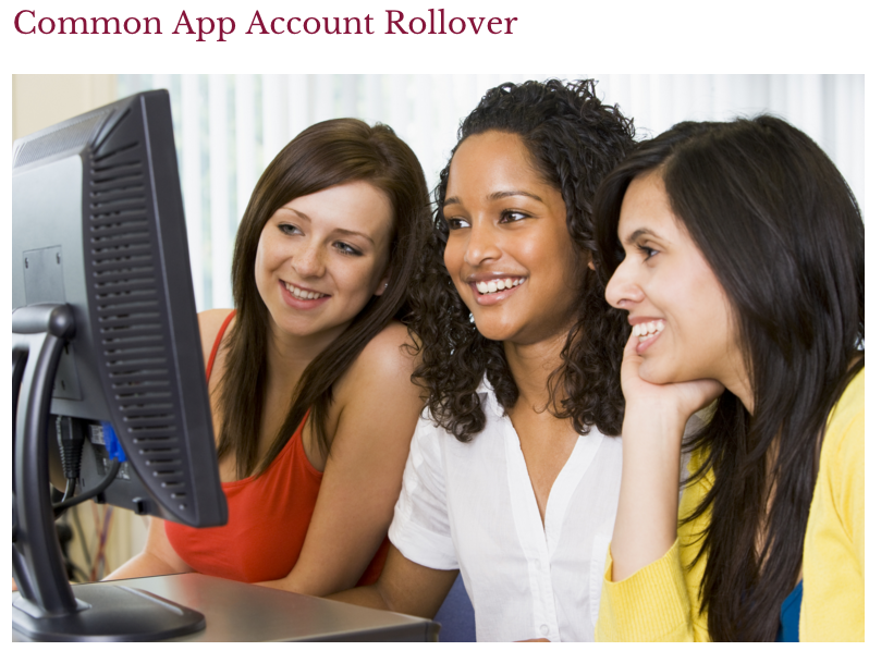 Common App Account Rollover