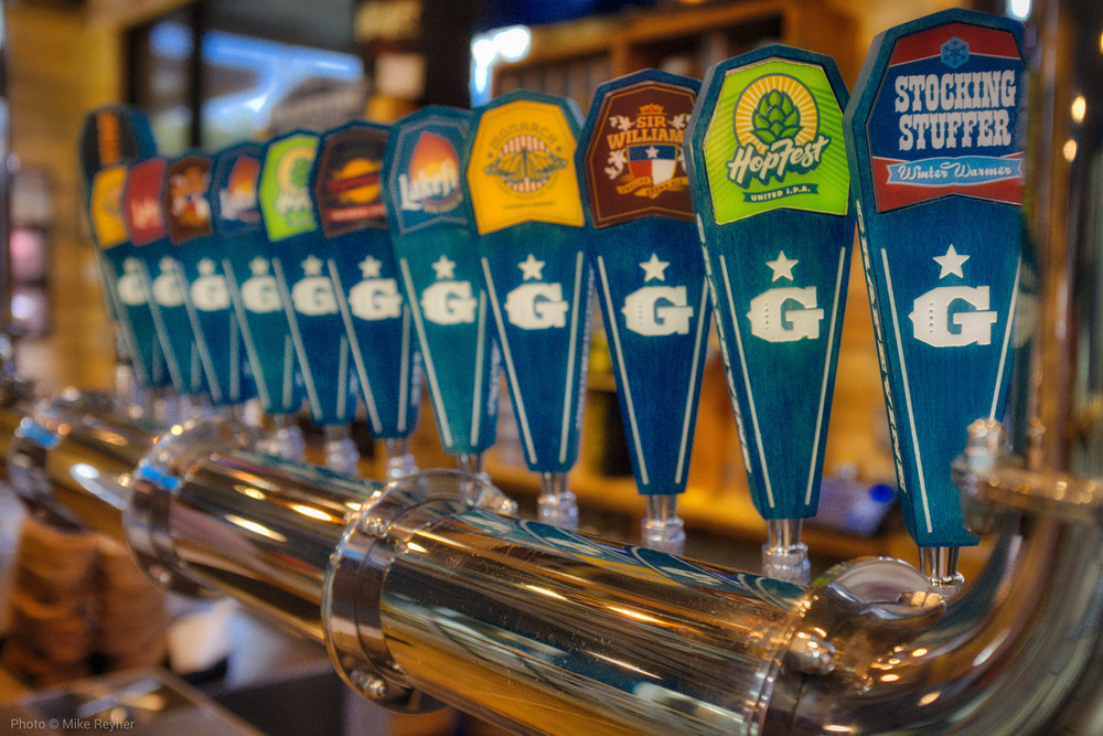 Taps at Grapevine Craft Brewery