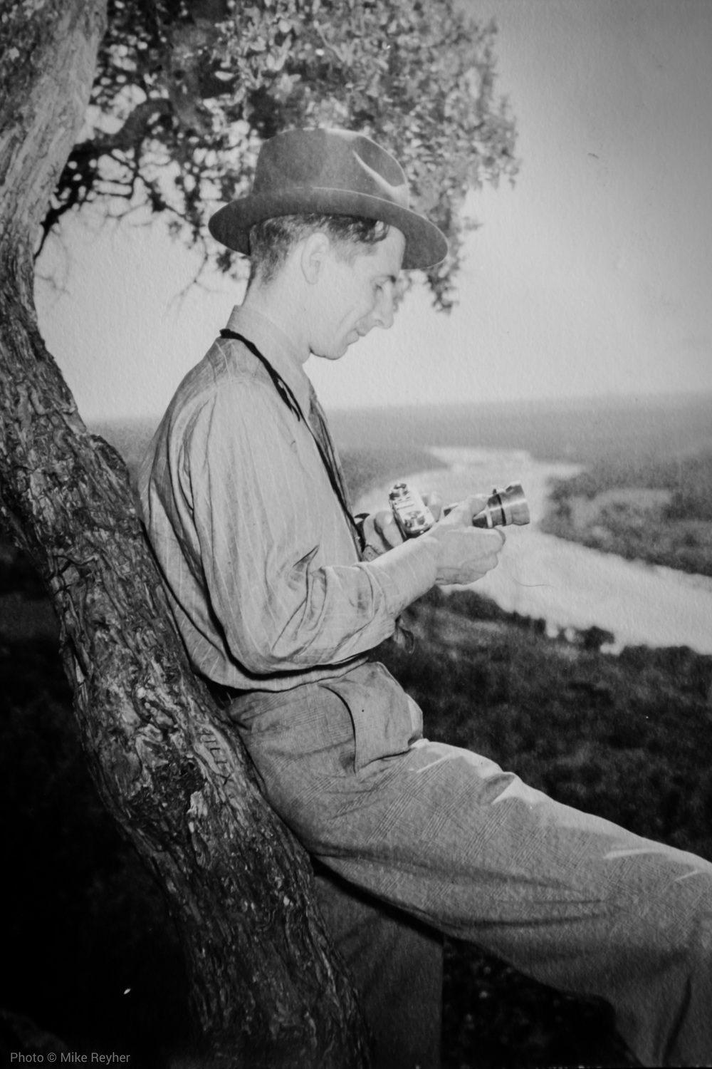 My grandfather, Christopher Harrison Reyher, Sr. circa 1936 with a rangefinder camera I would later use in the 1970's in my first photography class. Like me, he was both an artist and technologist working as an engineer for RCA working on the development of sonar systems and television products.