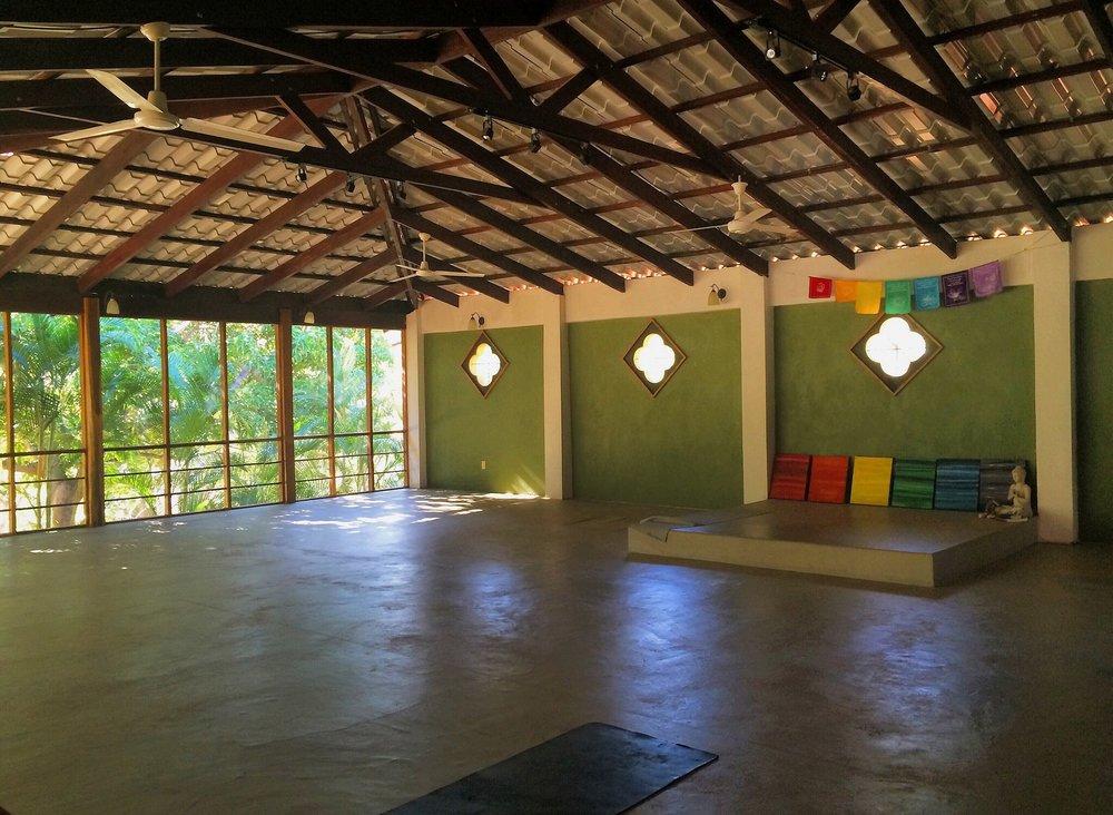 Peaceful yoga shala