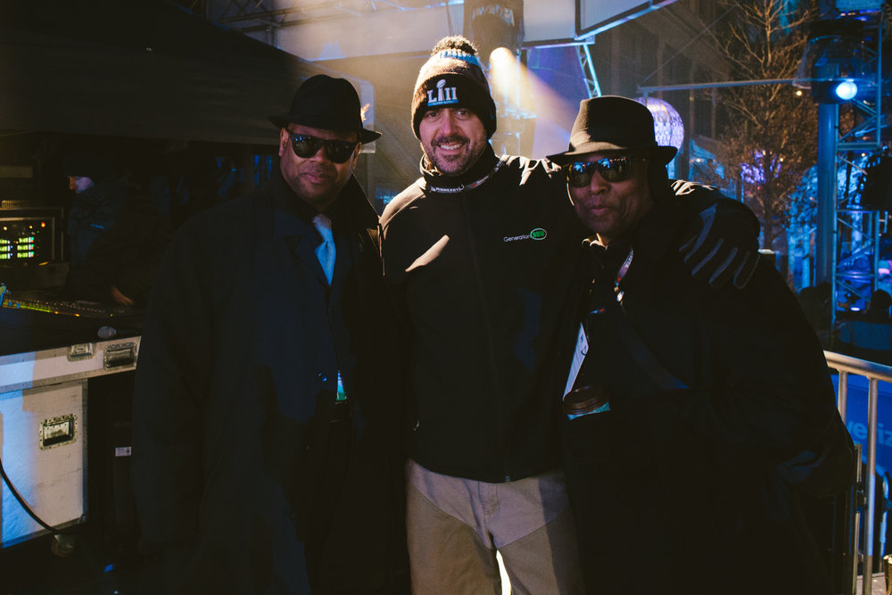 Jimmy Jam, Tim Miller (V.P. Marketing & Events for GenNOW), Terry Lewis