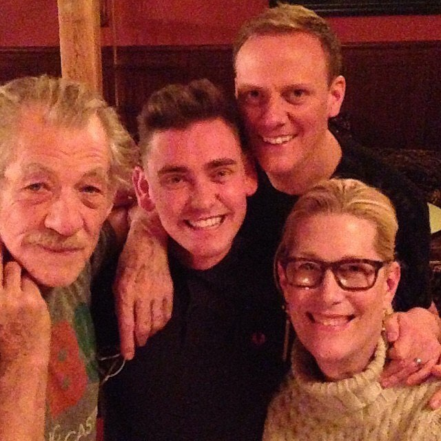 #tbt Making mama pretty with three of my favorite people. @ianmckellen , @ecclestonshire and @antonycotton.