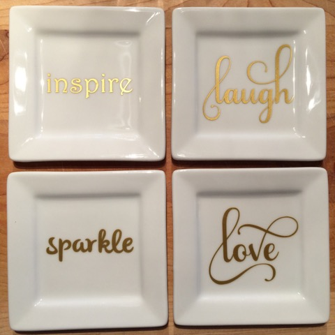 Beautiful fonts and motivational sayings. What saying will you include on your trinket trays?