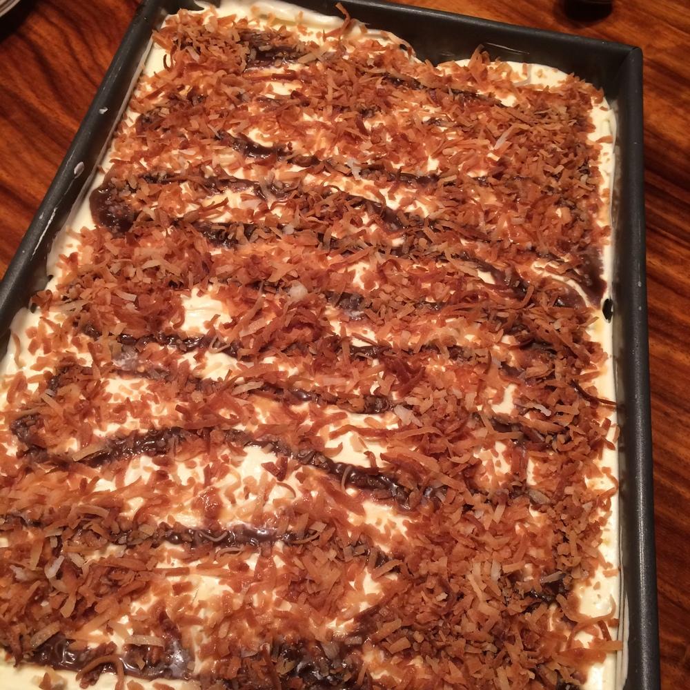 Enough delicious Somoa cake for everyone!