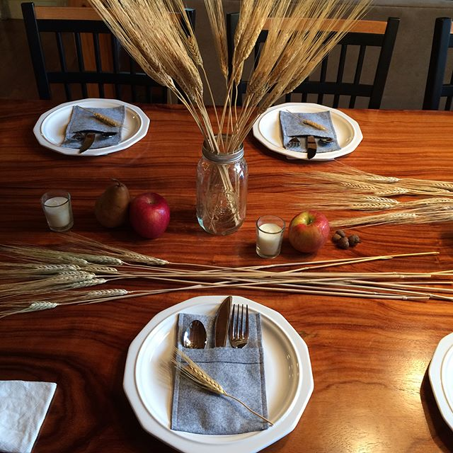 My #Thanksgiving #table scape for today's festivities!