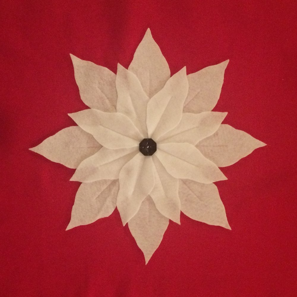 All three color combinations for our poinsettia pillows!