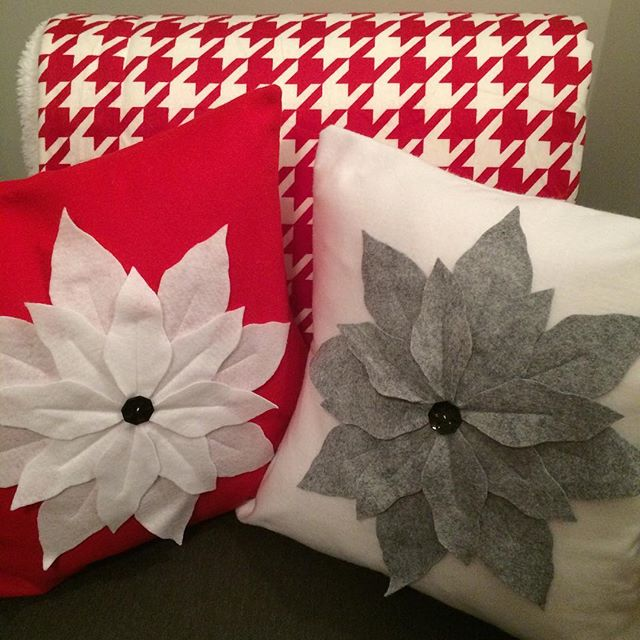 🎶 It's beginning to feel a lot like #Christmas! 🎶 Listened to my favorite #holiday music while my kids and I sewed these #poinsettia pillows! Check out this weeks #blog post to see how. -Kathy  Inspire yourself and others today!  www.TUliving.com/blog