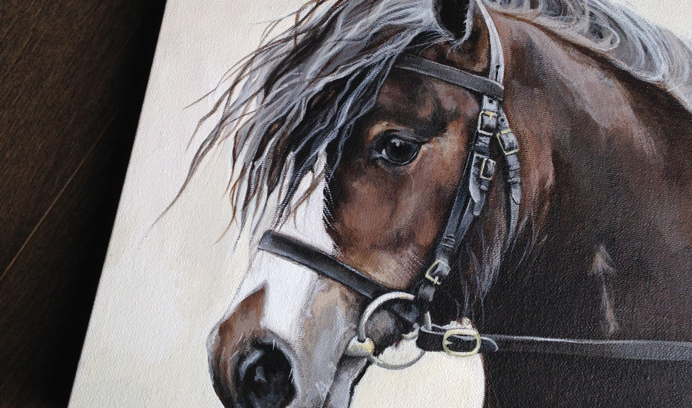 Pony portrait painting.