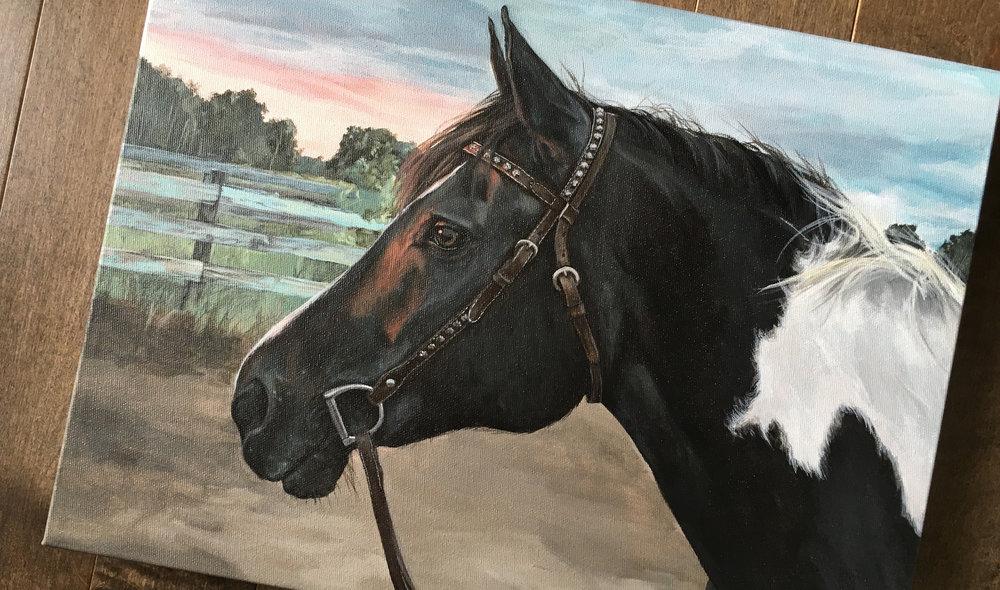 Tuxedo (Paint) portrait painting
