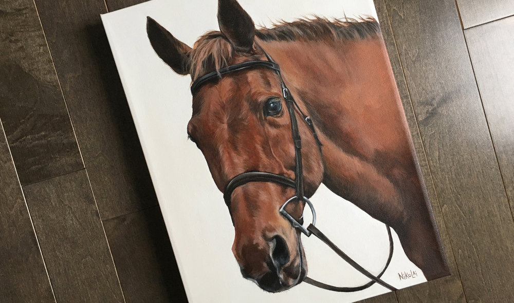 Charleston horse portrait painting