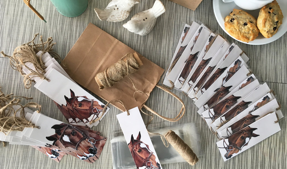 Hunter pony bookmarks