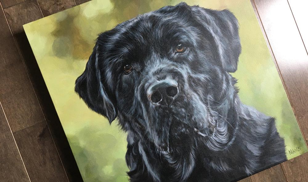 Ben (Black Labrador Retriever) painting
