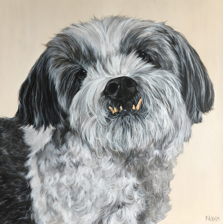 SIMON    Acrylic on gallery style canvas, 20 x 20   Ottawa, ON   SOLD