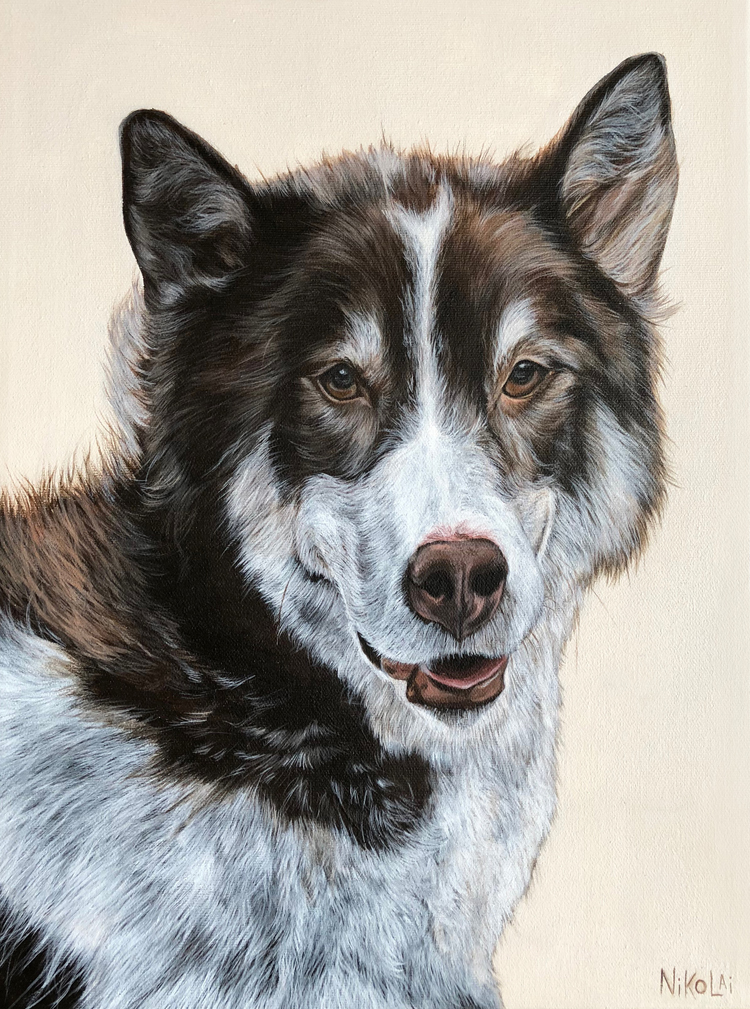MOCHA  | Acrylic on gallery style canvas, 16 x 12 | Winnipeg, MB | SOLD