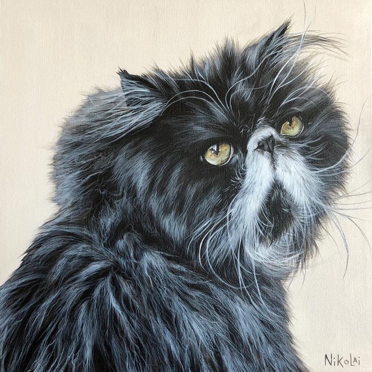 BUDDY    Acrylic on gallery style canvas, 12 x 12   Aurora, ON   SOLD