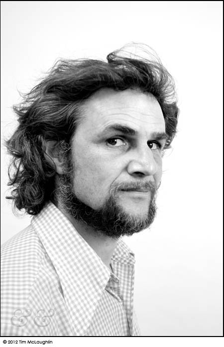 Robert Studer, sculptor and installation artist. Taken June 18th, 2012.