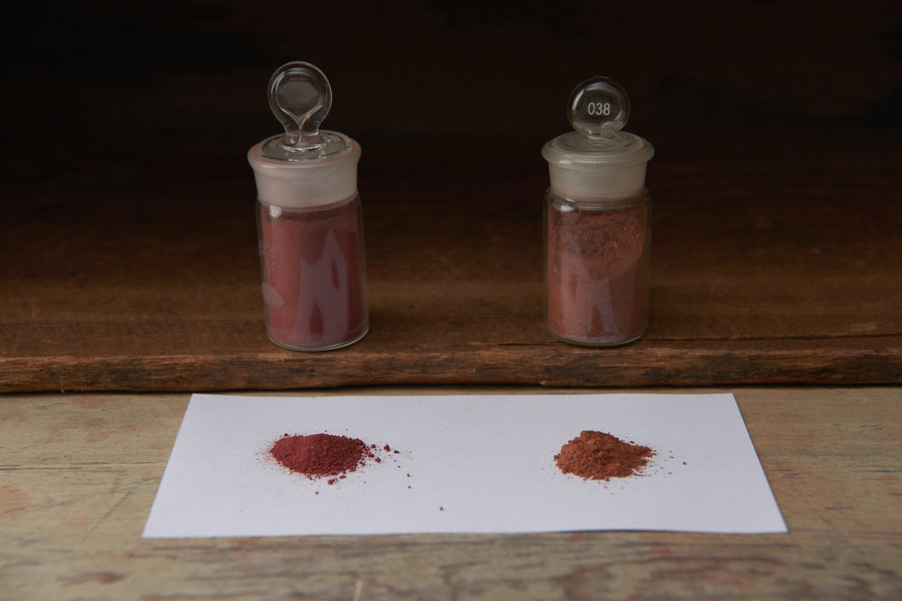 Lake pigment vs ground root
