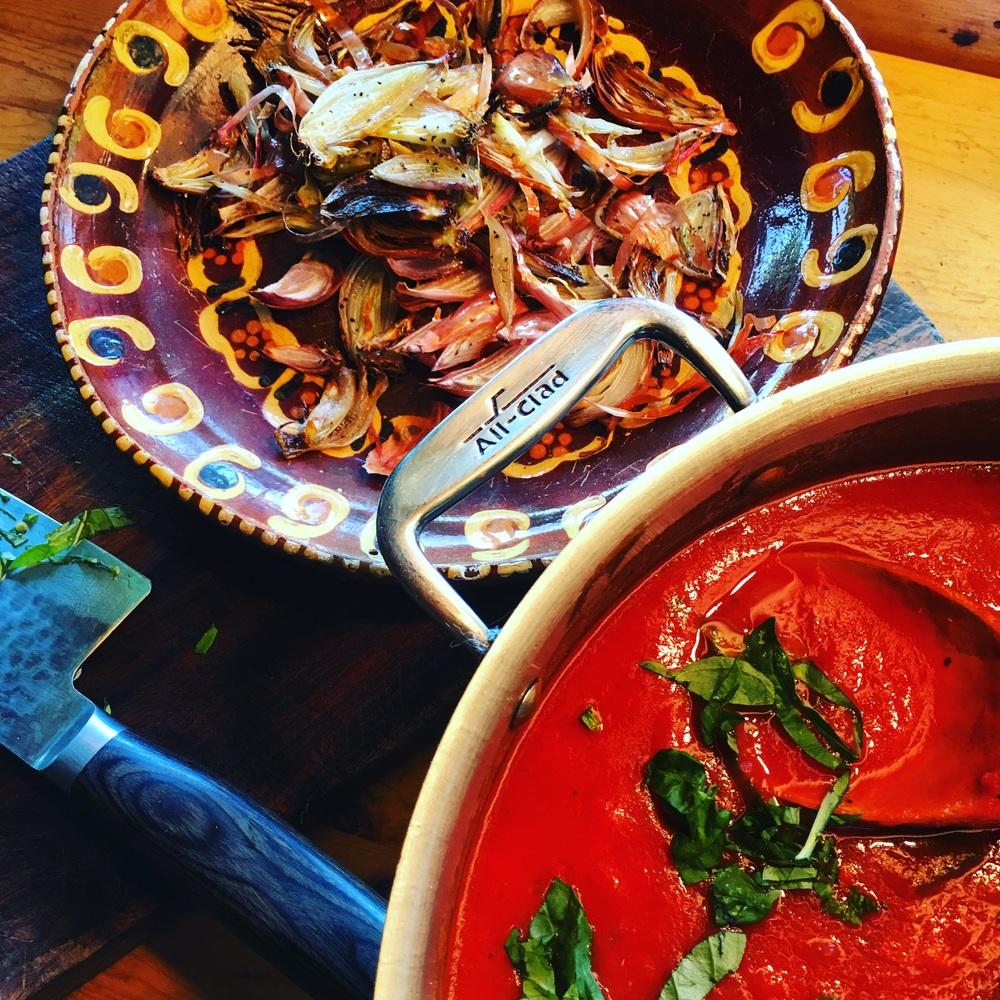 Organic marinara/roasted shallots