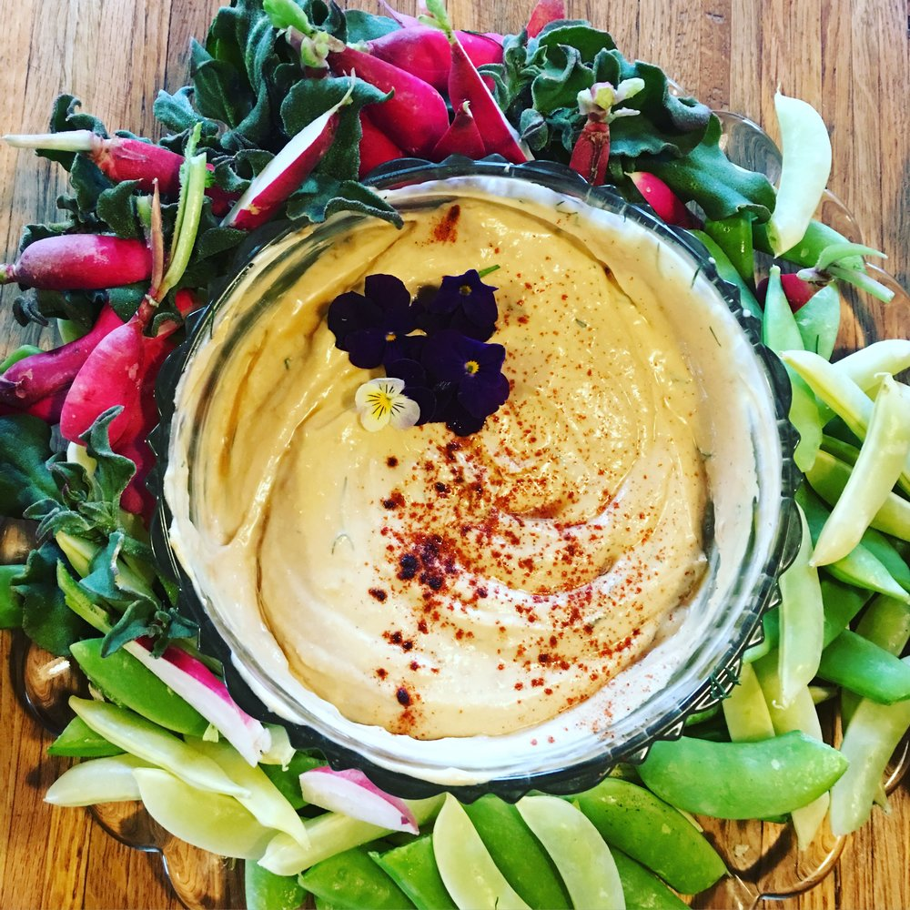 Organic miso with a touch of ponzu makes a great hearty, smokey dip for crisp veggies.