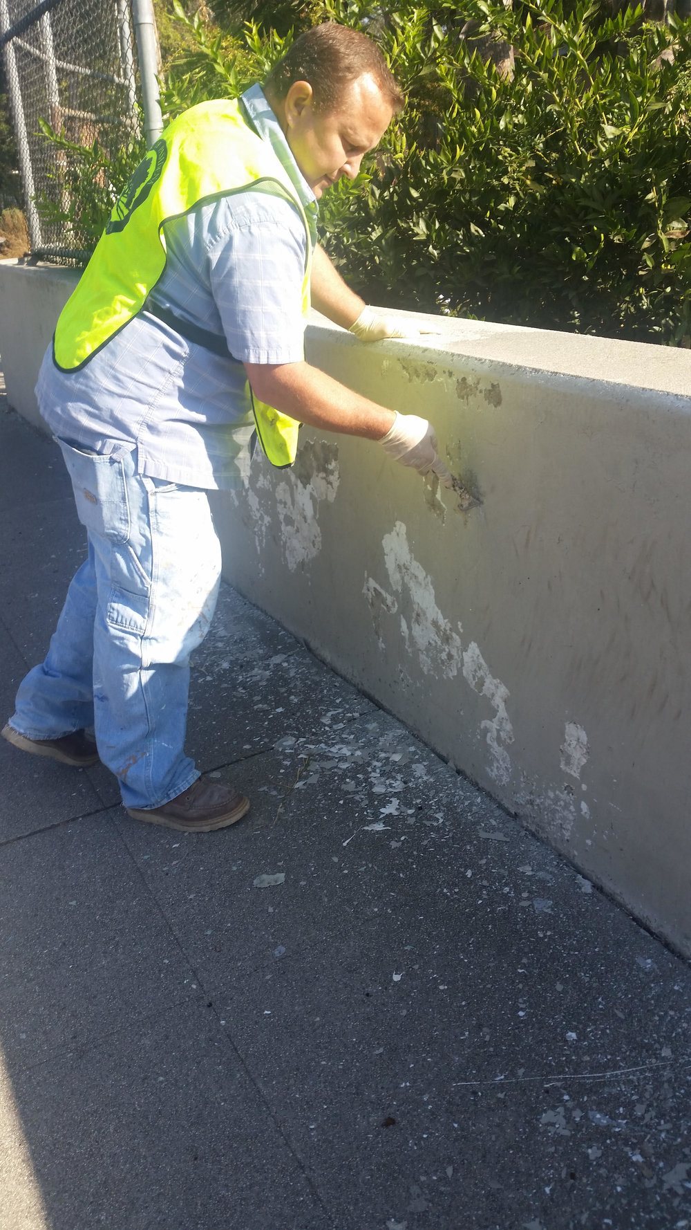 Painting the overpass